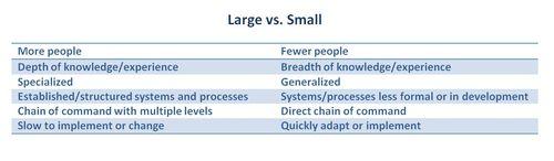 Lrge vs small