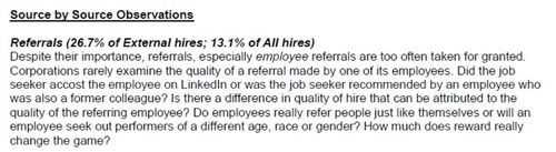 Referral sources of hire 2009